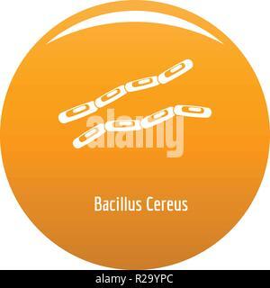 Bacillus cereus-Symbol. Einfache Abbildung von Bacillus cereus Vektor Icon für das Design orange - Stockfoto