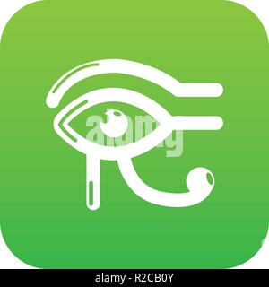 Auge horus Symbol grün Vektor - Stockfoto