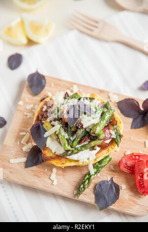 Gesund Spargel Burger - Stockfoto