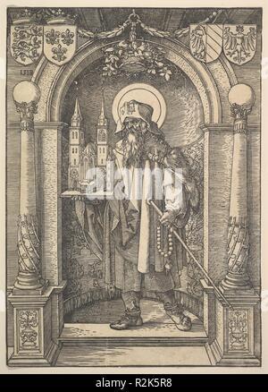 St. Sebald in einer Nische. Künstler: Albrecht Dürer (Deutsch, Nürnberg 1471-1528 Nürnberg). Maße: Blatt: 11 13/16 x 8 3/8 in. (30 x 21,3 cm). Ehemalige Attribution: Ehemals zugeschrieben, Hans Springinklee (Deutsch, aktive 1512-22). Datum: 1518. Museum: Metropolitan Museum of Art, New York, USA. - Stockfoto