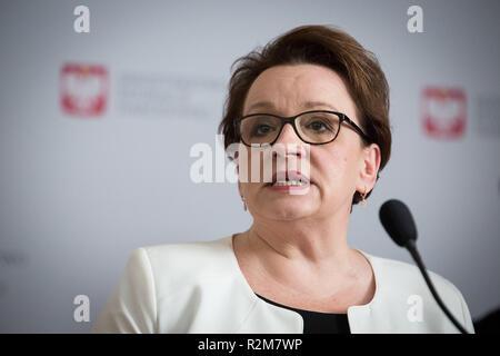 Anna Zalewska in Warschau, Polen am 21. Juni 2018 - Stockfoto