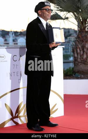 CANNES, Frankreich - 19. MAI 2018: Spike Lee an der Preisträger photocall während der 71St Cannes Film Festival (Foto von Mickael Chavet) - Stockfoto
