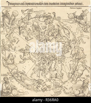Die nördliche Hemisphäre Himmelskörper. Stand: 1515. Medium: Holzschnitt. Museum: Nationalgalerie, Washington DC. Thema: Dürer, Albrecht. ALBRECHT DÜRER. - Stockfoto