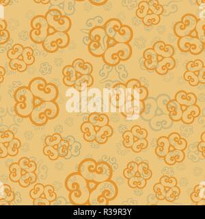Ethnische floral nahtlose Muster in Henna Farbe. Abstrakte zier Kulisse für Textil- oder Geschenkpapier - Stockfoto