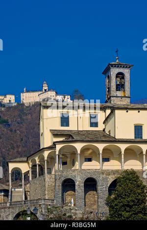 Italia-Piemonte - Valsesia Varallo Sesia Colleggiata di San Gaudenzio e il Sacro Monte - Stockfoto