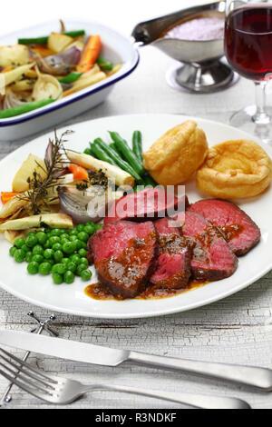 Sonntag Braten Abendessen - Stockfoto