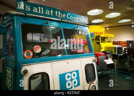 Großbritannien, Nordirland, County Down, Holywood, Ulster Transport Museum, Lieferwagen und Lkw - Stockfoto