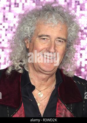 Bohemian Rhapsody UK Premiere auf der SSE Arena Wembley, London Mit: Brian May Wo: London, Großbritannien Wann: 23.Okt 2018 Credit: WENN.com - Stockfoto