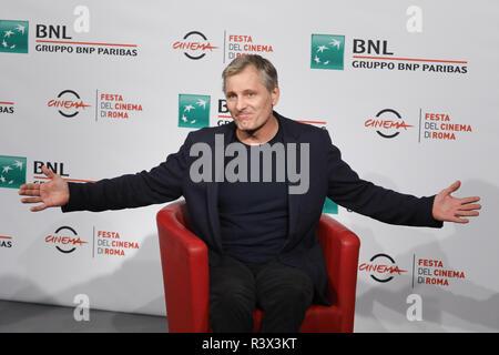 """13. Rom Film Fest - """"Grünbuch""""-Fotoshooting mit: Viggo Mortensen, Wo: Rom, Italien Wann: 24.10.2018: IPA/WENN.com ** Nur für die Veröffentlichung in Großbritannien, den USA, Deutschland, Österreich, Schweiz ** verfügbar - Stockfoto"""