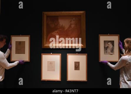 Ricorditi di mir che Son La Pia (von Dante's Purgatorio) im 19. Jahrhundert von Künstler Dante Gabriel Rossetti, geht auf Anzeige am Fitzwilliam Museum in Cambridge. - Stockfoto
