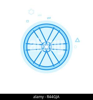 Fahrrad Felge und Speichen Symbol Leitung. Fahrrad Rad