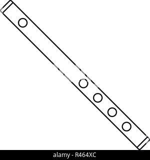 Holz Flöte Symbol. Umrisse Holz Flöte vektor Symbol für Web Design auf weißem Hintergrund - Stockfoto