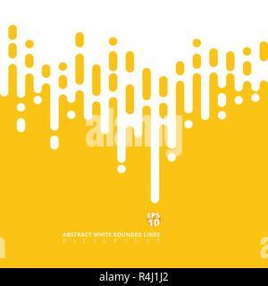 Abstrakte gelber Senf abgerundeten Linien Rasterungs-Übergang. Vector Hintergrund Abbildung - Stockfoto