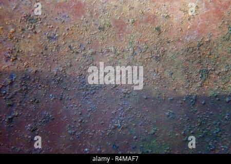 Zaun Aus Verzinktem Blech Braun Stockfoto Bild 177363947 Alamy