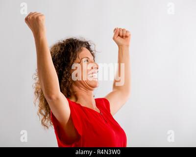 Porträt einer glücklich Reife Frau - Stockfoto