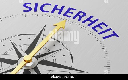Kompass - Sicherheit - Stockfoto