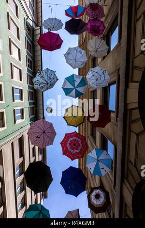 Bunte Sonnenschirme Dekoration In Europäischen Street Deko Stil