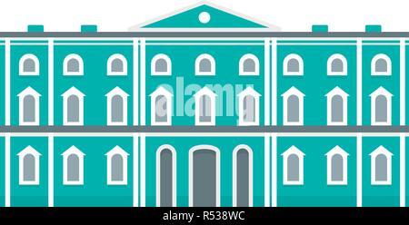Grüne Stadt historisches Gebäude Symbol. Flache Abbildung: Grüne Stadt historisches Gebäude vektor Symbol für Web Design - Stockfoto