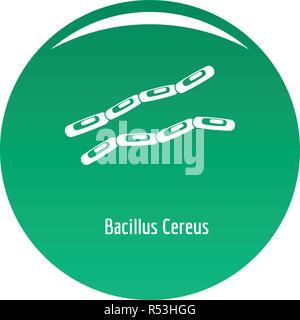 Bacillus cereus-Symbol. Einfache Abbildung von Bacillus cereus Vektor Icon für das Design grün - Stockfoto