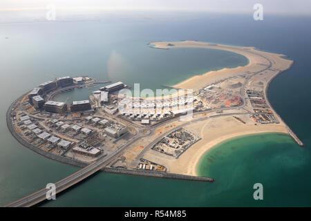 Dubai daria Insel Luftbild Luftbild - Stockfoto