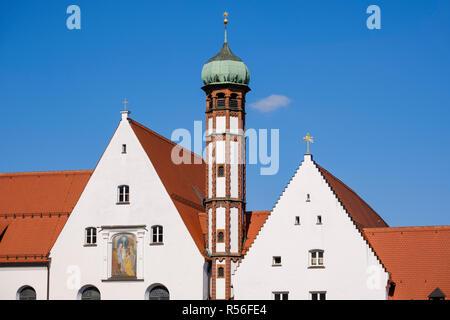 Klosterkirche Maria Stern, Kloster Maria Stern, Augsburg, Schwaben, Bayern, Deutschland - Stockfoto