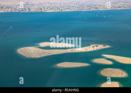Dubai die Welt Inseln Clarence chile Luftbild Luftbild - Stockfoto