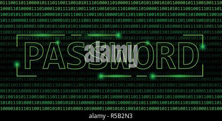 Kennwort Sicherheitskonzept der binäre Code web Hintergrund Vektor-illustration EPS 10. - Stockfoto