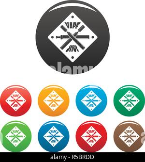 Vape shop Icons Set 9 Farbe Vektor isoliert auf Weiss für jedes Design - Stockfoto