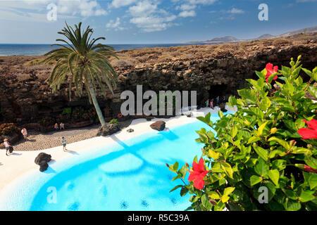 Spanien, Kanarische Inseln, Lanzarote, Jameos del Agua - Stockfoto