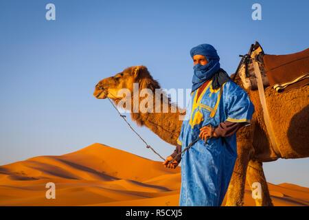 Kamel Fahrer, Sahara, Merzouga, Marokko, (MR) - Stockfoto