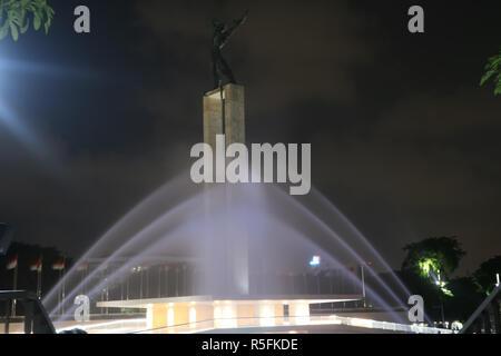 Das Licht Brunnen bei Lapangan Banteng - Stockfoto