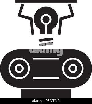 Electrogeneration schwarze Symbol, Vektor Zeichen auf isolierten Hintergrund. Electrogeneration Konzept Symbol, Abbildung - Stockfoto