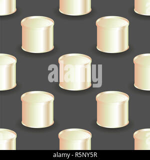 Metallkanister nahtlose Muster - Stockfoto