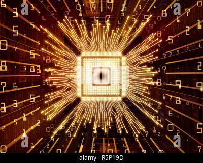 Der Computer-CPU - Stockfoto