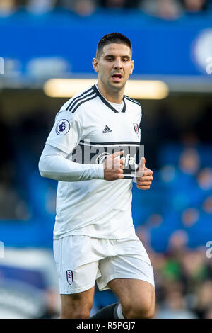 London, Großbritannien. 2. Dez 2018. Aleksandar Mitrovic von Fulham in der Premier League zwischen Chelsea und Fulham an der Stamford Bridge, London, England am 2. Dezember 2018. Foto von salvio Calabrese. Credit: THX Images/Alamy leben Nachrichten - Stockfoto