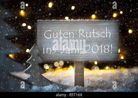 White Christmas Tree, Guten Rutsch 2019 bedeutet ein Frohes Neues ...