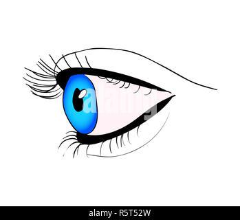 Menschliche Auge schließen Vektor symbol Icon Design. Schöne Abbildung auf weißem Hintergrund - Stockfoto