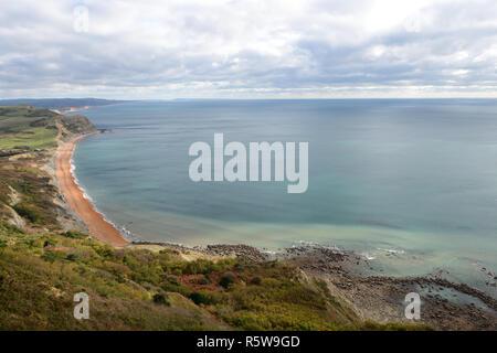 Malerische Aussicht auf die Küste von Dorset um die Seatown Bereich - Stockfoto