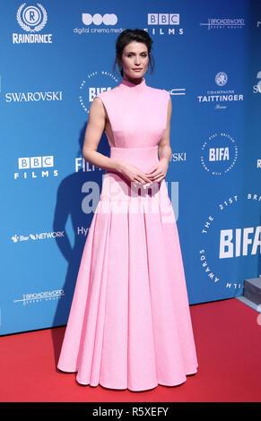 London, Großbritannien. 2. Dez 2018. Gemma Arterton, British Independent Film Awards, Old Billingsgate, London, UK, 02. Dezember 2018, Foto von Richard Goldschmidt - Stockfoto