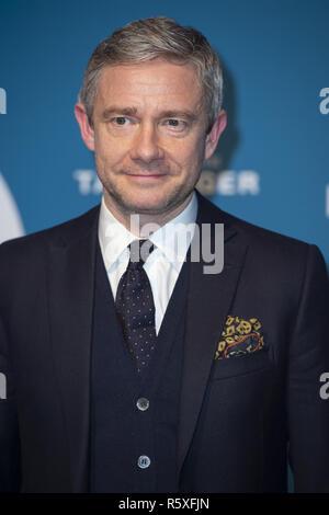 London, Großbritannien. 2. Dez, 2018. Martin Freeman besucht die 21. British Independent Film Awards am Old Billingsgate. Credit: Gary Mitchell/SOPA Images/ZUMA Draht/Alamy leben Nachrichten - Stockfoto