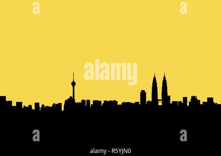 Kuala Lumpur panorama Grafik - Stockfoto