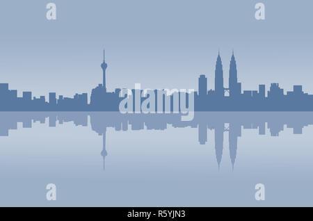 Kuala Lumpur City graphic Reflexion - Stockfoto
