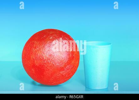 Abstrakte Komposition mit roten Ball - Stockfoto