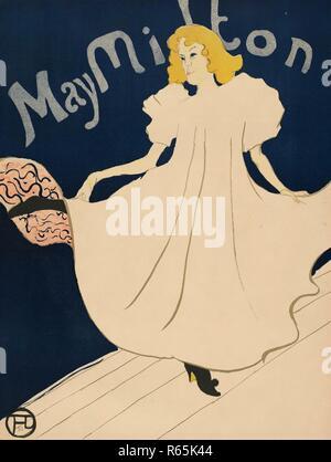 Poster für den Amerikanischen tour Mai Milton. Abmessungen: 88,4 cm x 69,2 cm, 79,8 cm x 61,1 cm, 107 cm x 84 cm. Museum: Van Gogh Museum, Amsterdam. Thema: de Toulouse-Lautrec, Henri. - Stockfoto