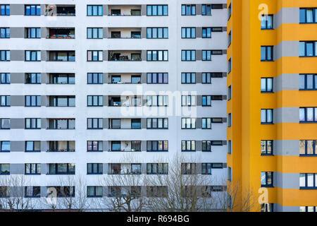 Im Bereich des sozialen Wohnungsbaus in Berlin im Märkischen Viertel