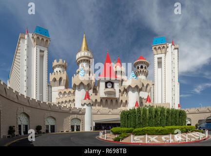 Las Vegas, Nevada, Strip Boulevard, USA: [Excalibur casino hotel Interieur, mittelalterliche Burg] - Stockfoto