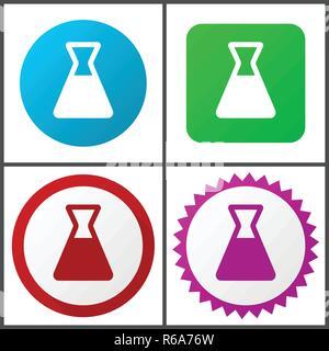 Labor Rot, Blau, Grün und Rosa vektor Icon Set. Web Icons. Flaches Design Zeichen und Symbole einfach zu bearbeiten - Stockfoto