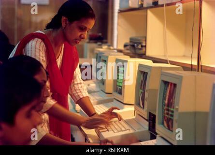 Computer Bildung, Indien - Stockfoto