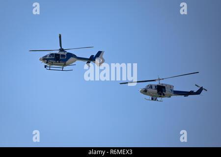Special Forces helicopters Team bereit für Seil springen - Stockfoto