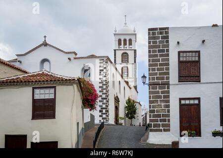 Stadt Glockenturm Garachico, Teneriffa - populäre touristische Historische abschleppen. Kanarische Inseln, Spanien. - Stockfoto